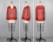 festival / india gauze / sheer cotton / LITTLE DREAM vintage bohemian blouse