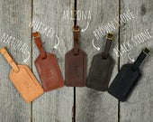 Leather Luggage Tag with Free Monogram - Personalized Travel Gift for Man Boyfriend Husband Brother Dad Grad