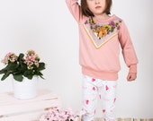 Rose fox print bamboo baby toddler kids sweatshirt Supayana spring 2017