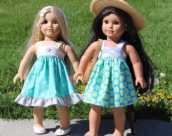American Girl Dress Pattern PDF - Doll Clothes Pattern fits American Girl Doll - American Girl Sewing Pattern PDF for Lemon Drop Dress