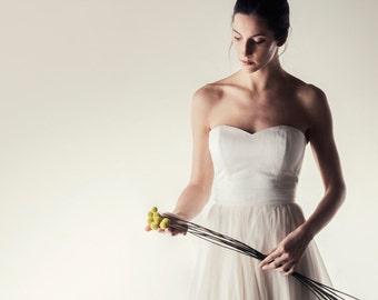 Wedding top, Silk bustier, Wedding top, Two piece dress, Simple wedding dress, wedding dress separates, Alternative wedding dress, Corset