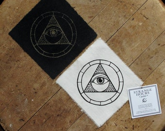 "Illuminati - 4x4"" Screen Printed Sew-On Art Patch"