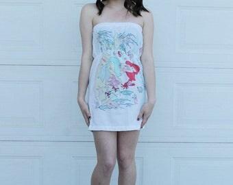 S The LITTLE MERMAID Dress, Disney Dress, Disneyland Dress,  Pillow Case Dress, Womens Mermaid dress, Mermaid dress, Adult disney dress