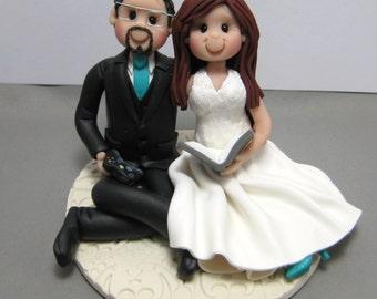 DEPOSIT for a Custom Video Gamer Gaming Reader Reading Wedding Cake Topper