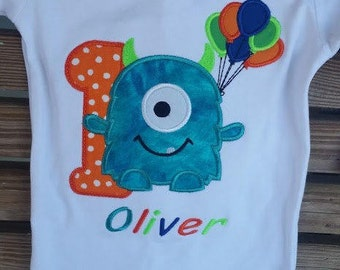 Monster Birthday - Monster Party - Numbers 1-9 - Little Monster - Monster 1st Birthday - Baby Monster Party - Kids Birthday Shirt