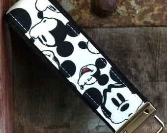 READY TO SHIP-Beautiful Key Fob/Keychain/Wristlet- Mickey and Me