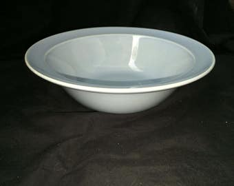 Vintage LuRay Pastels Blue Serving Bowl