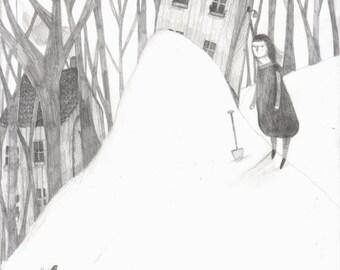 Snow day - Fine art print