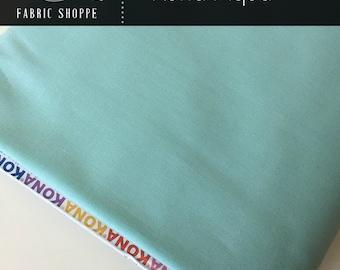 Kona cotton solid quilt fabric, Kona AQUA 1005, Aqua fabric, Woodland Blanket Fabric, Kaufman, Woodland Nursery, Choose the cut