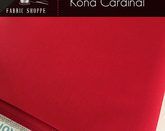 Kona cotton solid quilt fabric, Kona CARDINAL 1063, Kona fabric, Solid fabric Yardage, Kaufman, Christmas fabric, Choose the cut