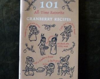 1970's - 80's 101 Cranberry Recipes Cookbook Booklet Ocean Spray