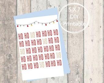 Printable Christmas Card, Merry Christmas, Printable Christmas Card, Christmas Card, Printable, Holiday Card, Mid-Century, Mod, Minimalist