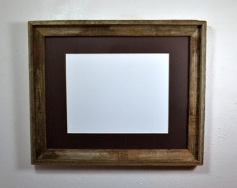 16x20  frame from repurposed wood with mat for 11x17 ,12x18,11x14 or 12x16