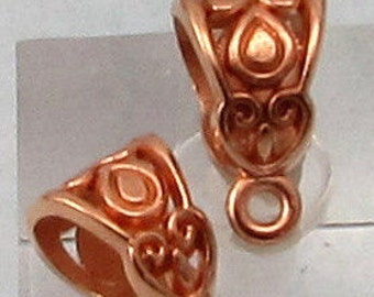 Rose Gold Filigree Bail, 2 Pieces, RG33