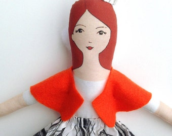 DIY DOLL KIT - With printed fabric - Easy sewing