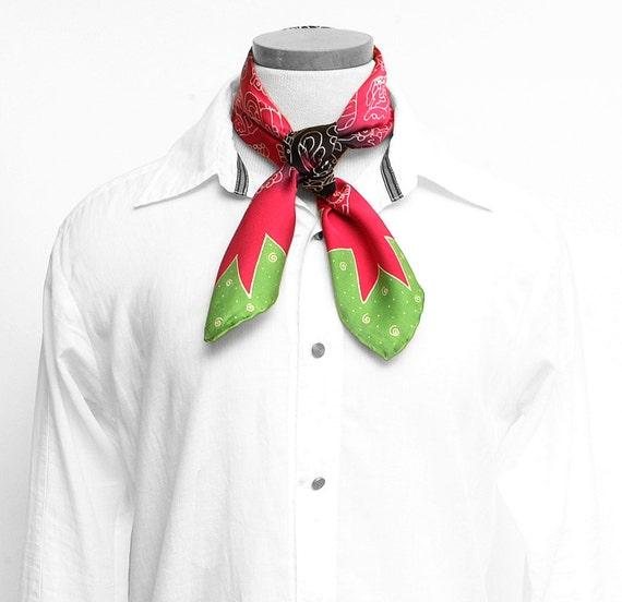 Silk scarf handpainted, Silk mens scarf, Aztec Scarf, Handmade, Unique scarf, Square scarf, Luxury scarf, Tribal scarf, Boyfriend  scarf