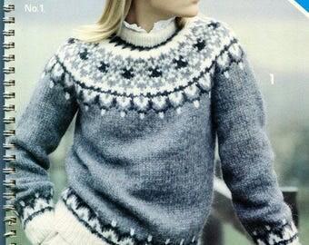 Alafoss Lopi Book No 1 Knitting Patterns Men Women and Children
