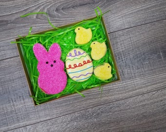 Easter Peeps Sugar Cookie Gift Box - 5 Cookies