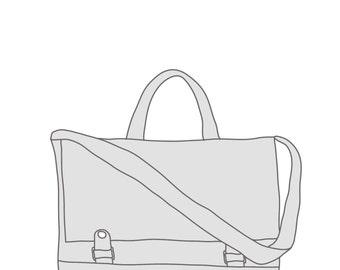 Custom Messenger, Canvas and Leather Messenger, 17 inch laptop messenger bag, crossbody bag, work bag, Jenny N Design, Made to Order