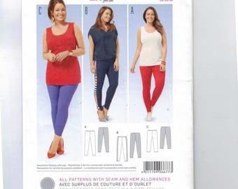 Misses Sewing Pattern Burda 6677 Womens Plus Size Leggings Stretch Knit Size 20 22 24 26 28 30 32 34 UNCUT