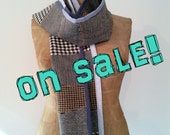 Upcycled Wool Scarf, eco-friendly, made in Maine unisex gift, gift for him