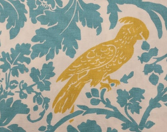Barber Storm Coastal Blue Saffron Premier Prints Fabrics 1/2 yard or more - Fabric by the 1/2 Yard