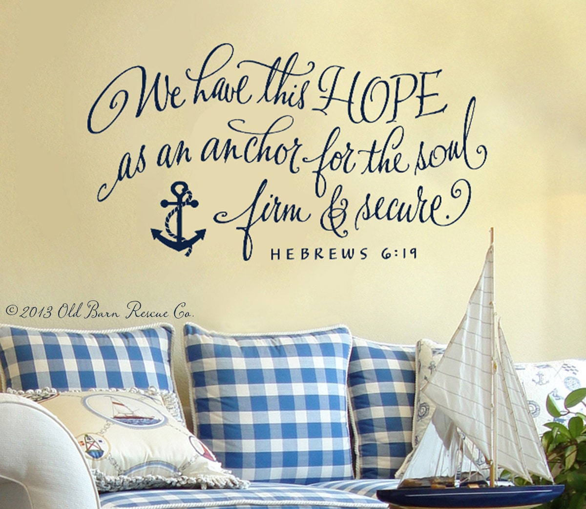 Hope wall quote we have this hope as an anchor for the soul zoom amipublicfo Image collections