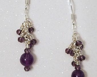 E1113 Purple Rain (Amethyst) Earrings