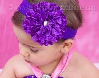 Baby Headband,Purple Lace Flower headband,Preemie,Newborn Headband,Infant,Toddler,Child,Wedding,Baptism,Flower Girl headband,Baby Hair Bows