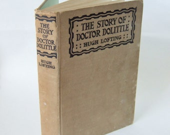 1931 Edition of Dr Dolittle by Hugh Lofting - Vintage Hardback with Charming Illustrations.