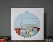 SALE - Pack of 5 Norwich Christmas Cards // Scandinavian Design Holiday Cards