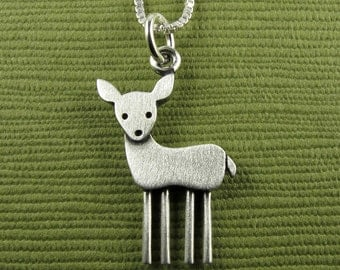 Tiny deer necklace / pendant