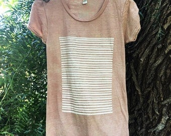 Stripes & Stripes - Nude Burnout Perfect Fit Women's T-shirt