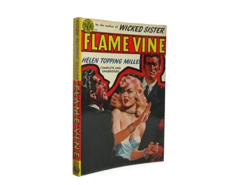 Flame Vine - clean, crisp vintage paperback with glossy illustrated cover from 1950 - Free US Shipping