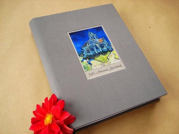Large Custom Journal · Personalized Sketchbook · Big Sketchbook· Gift for Artist · Multi Purpose Notebook · Artist Notebook · Artist Journal