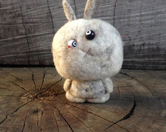 OOAK Needle felted Zombie Bunny Toy Shelf Sitter Ready to Ship