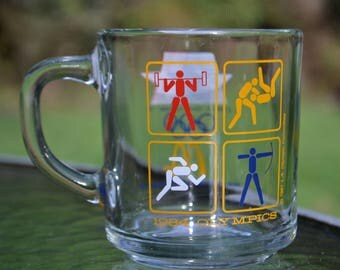 Vintage 1984 XXIII Olympics Glass, Los Angeles
