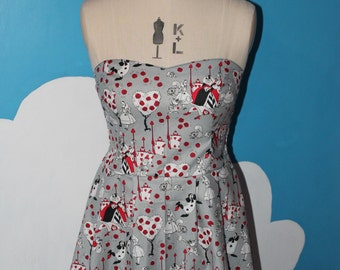 disneys alice in wonderland - painting the roses red - sweet heart dress - all sizes