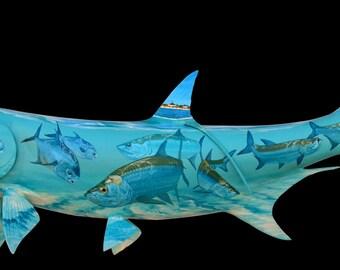 Custom Tattooed Tarpon Fish Mount