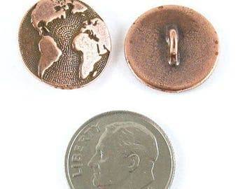TierraCast Pewter Buttons-COPPER PLATED EARTH (2)