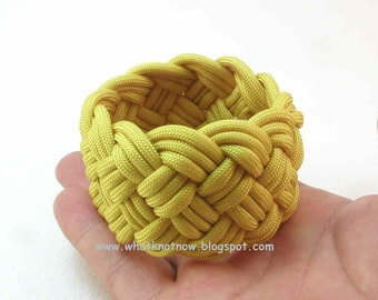 yellow paracord knotted rope bracelet cuff woven turks head knot rope bracelet sailor bracelet armband nautical jewelry 2450