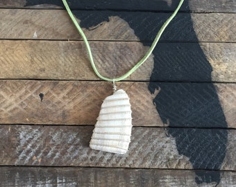 Wire Wrapped Shell Pendant in Sterling Silver