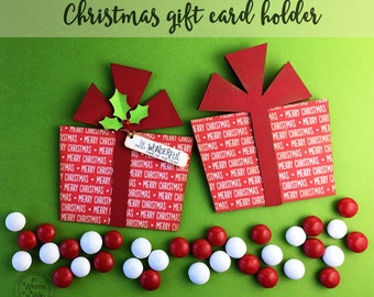 KIT Christmas Gift Card Holder / Gift Cards / Present Gift Card Holder / Stocking Stuffers / Gifts for Employees / Credit Card Holder