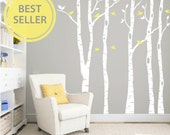 Birch tree wall decal, Nursery wall decals, Wall stickers for bedroom, Birch tree decal, Tree wall stickers, Wall vinyl decal DB334