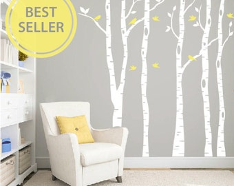Birch tree wall decal, Nursery wall decals, Wall stickers for bedroom, Birch  tree decal, Tree wall stickers, Wall vinyl