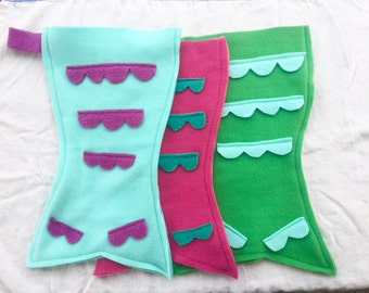Mermaid Tail Stocking, Christmas Stocking, Stocking Set, Ready to Ship