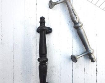 Large Iron Door Pull , Barn Door Pull, Home Fixtures, Door Handle, Brass Door Pull, Remodel Kichen Cabinet