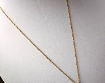 Exceptional Pearl/18K Gold and Diamond Necklace - Vintage - Twisted Rope Necklace - Solid Gold.
