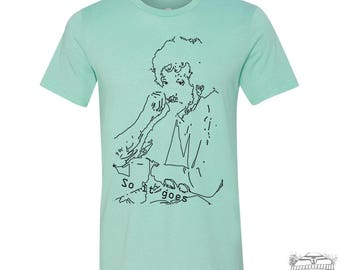 Mens VONNEGUT...So it Goes T-Shirt  s m l xl xxl (+ Color Options) hand screen printed