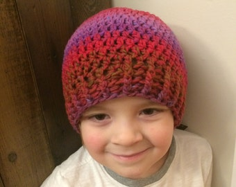 Multicolor Crocheted Hat for a Child 3-10 years 96/16